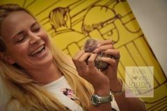 Lisa - mobile zoo show with Tenerec